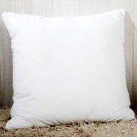 40 * 40cm Polyester Coussin Coussin Coussin Coeur Square Coeur Personnalisé Transfert Thermique Tablimation Taie d'oreiller Blanc Blanc Couvercle d'oreiller