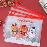 عيد الميلاد حقيبة الإبداعية الكرتون أكياس القلم عالية السعة قلم الحقيبة kawaii طالب القرطاسية حقيبة ماء سستة حقيبة رصاص bh4686