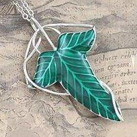 Hobbit Vintage Elf Green лист ожерелье подвесной булавка женщины мужские выступления ювелирные аксессуары Bijoux Femme Wheelles Bisuteria ожерелья