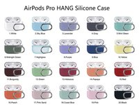 For Airpods 3 Pro Silicone Case Soft Ultra Thin Protector Airpod Cover Earphone Cases Anti-drop Earpods Clothing With Hook Retail Package