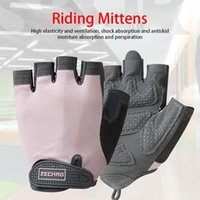 Cycling Gloves 1 Pair Half Finger Breathable Wear Resistant Shockproof MTB Road Bicycle Male Female Sports Bike Equipment