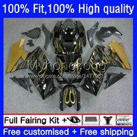 OEM-body-kit voor Suzuki GSXR 1000CC 1000 cc K7 2007 2008 Carrosserie 27NO.88 GSXR1000 GSX-R1000 GSXR1000CC Gold Flames 2007-2008 GSXR-1000 07 08 Injectie Mold Falling