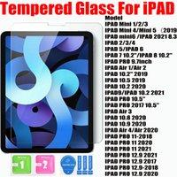 9H 0,4 mm härdat glasskärmskydd för iPad Pro 12.9 2021 mini 1 2 3 4 5 7.9inch 6 8.3 iPad 2 3 4 5 6 7 8 9.7 10.2 Luft 1 2 3 4 10.5 10.8 10.9 iPad PR0 11 2020
