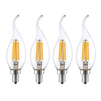 E14 светодиодная нить свеча лампы 2W / 4W / 6W теплое / холодное белое AC220-240V 360 градусов C35 Edison ретро свечи свеча