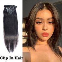 120g Silky Straight Brazilian Remy Clip in Hair Extensions 100% Human Hairs 8pcs Per Pack No Tangle
