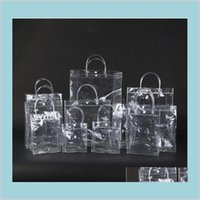 Gift Wrap Event & Party Supplies Festive Home Garden Fashion Pvc Women Clear Bag Transparent Tote Luxury Design Cosmetic Shoulder Hang