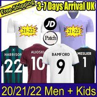20 21 22 Bamford Soccer Jerseys United 2021 2022 Rodrigo Koch Costa Alioski Phillips 남성 키즈 훈련 축구 셔츠 태국