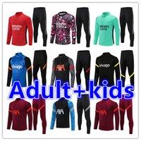 Crianças + Homens Adulto 20 21 Futebol Treinamento Tracksuit Futebol Tracksuits Conjuntos 2021 2022 Jaqueta de Chandal