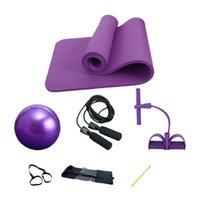 Venta de yoga Traje de cuatro piezas 25 cm Pilates Ball de 10 mm Dispositivo de tensión de estera y esteras de cuerda de saltar