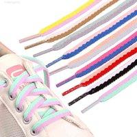 120 سم الحلوى لون رباط الحذاء الأحذية الرياضية الأربطة الأزياء عارضة قماش البوليستر أربطة الأحذية المسطحة