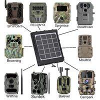 14.4W Solarpanel-Ladegerät-Ausgang 12V 9V 6V wasserdicht mit 8000mAh Li Batterie 2.1mm 1,7 mm 1,35mm für Jagd-Trail-Spielkamera-Kameras