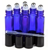 Storage Bottles & Jars 6pcs 10ml Cobalt Blue Glass Roll On Bottle With Stainless Steel Roller Ball For Essential Oil Blends Empty Cosmetic C
