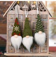 زينة عيد الميلاد سانتا مجهولي الهوية دمية قطرة الحلي الوقوف دمى منتصف العام الديكور القطن قلادة مهرجان ديكور نويل DHD11314