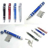 مفك البراغي الدقيق متعدد الوظائف (مع القلم المغناطيسي مصغرة أداة الألمنيوم القلم) أداة إصلاح الهاتف المحمول مريحة وعملية