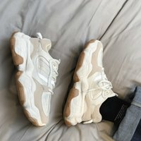 QWEDF мода толстая подошва платформы кроссовки мужчин вулканизируют обувь мужчина смешанный цвет коренастые тренеры мягкие D6-46 210708