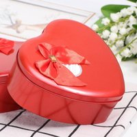 2pcs Mothers Day Present Heart Shaped Iron Box Creative Rose Flower Soap Artificial Gift For Girl Friends Mom Dad (Red) Wrap