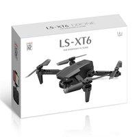 Yeni XT6 Mini WiFi FPV ile 4 K 1080 P HD Çift Kamera Drones Yükseklik Tutma Modu Katlanabilir RC Drone Quadcopter RTF Drone