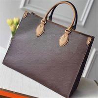 OnThego MM GM كيس فوائد مصممي أكياس حقائب اليد رمز التاريخ M45321 جودة عالية السيدات سلسلة الكتف براءات الاختراع