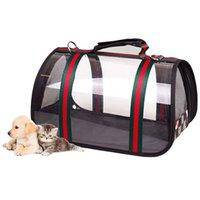 Bolso portátil Portador de perro PET POR PUPPY VIAJE Bolsas de malla transpirables para perros pequeños Cat Chihuahua Parriers Saliente Pets Bolso