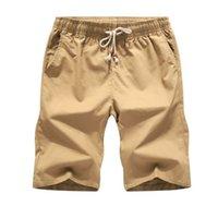 Bunte Baumwollwäsche Sommer Shorts Männer Strand Herren Khaki Home Casual White Sweatshorts 5XL Verkauf 210729