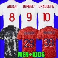 2021 Lyon Olympique Lyonnais 축구 유니폼 OL 디지털 아우라 외식 L Paqueta Le Sommer Bruno G Cherki 축구 셔츠 남성 키즈 키트 Maillot Equipe de Foot