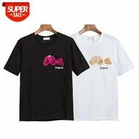 Camiseta de manga corta de oso decapitado de algodón suelto marea casual marea de coco ángel # TX1I
