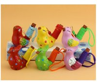 Party Favor Ceramic Water Bird Whistle Spotted Warbler Song Chirps Home Decoration For Children Kids Gifts SN4730
