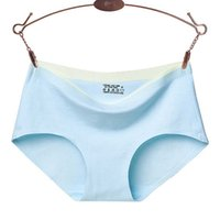 modern design fabric breathable medium waist solid color sexy women's briefs pure cotton underwear