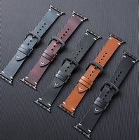 Vintage Leather Straps For Apple Watch 44mm 42mm 40mm 38mm Bands Luxury Belt Wristbands iwatch Series 6 5 4 SE Watchbands Smart Accessories
