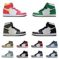 Homens 85 OG Beginnings cinzentos neutros 1s sapatos casuais Sahdow 2.0 Chicago Meia-noite Marinho UNC UNC Cetim Cetim Negro Toe Court roxo Mocha 1 Lucky Green Verde Tint sneakers