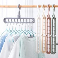 Perchas de soporte de múltiples puertos Perchas de ropa Multifunción Secado Perchador Organización de limpieza Magic Rack HWF8784