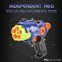 Kids Toy Gun Shooting Plastic Pistol Outdoor Fun Toy Manual Soft Bullet Blaster For Boys Children Sport Gifts 05