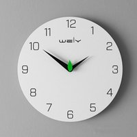 Wall Clocks Wooden Clock Modern Design For Living Room Bedroom Decor Nordic Brief Wood Watch Home Silent 16 Inch