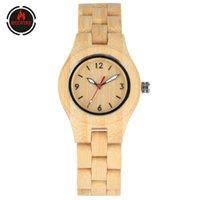 Relógios de pulso Redfire Eco-Friendly Criativo Bambu Mulheres Assista Bracelete Frasco Senhoras De Madeira Relógio de Pulso De Quartzo Timepiece Relógios Presentes