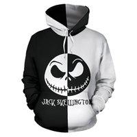 Jack Skellington Men Spring Winter Teens Sweatshirt Nightmare Before Christmas Hoodie Unisex Streetwear Casual Pullover