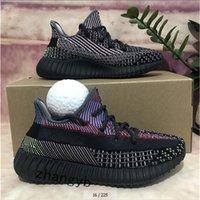 2021 zapatillas para mujer para mujer de alta calidad para hombre Israfil Yecheil Yeezreel Hyperspace Lundmark estático reflexivo de Zebra Menores de zapatillas al aire libre de las mujeres