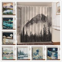 Ink Painting Art Shower Curtains Waterproof Fabric Cloth Bathroom Decoration Supply Washable Bath Room Curtain Douche Gordijn 3d