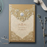 2021 دعوة الزفاف الذهب الليزر قطع بطاقات دعوة الزفاف دش الاشتباك عيد ميلاد التخرج حزب اللوازم من دي إتش إل