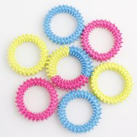 Fidget Toys Spiky Sensory Ring Decompression Chain Barbed Bracelet Anxiety Stress Reliever Squeeze Stretch Finger Game Toy 3 Colors Leisure Tools Gift