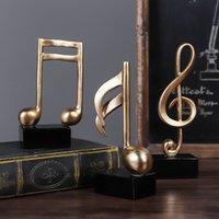 Decoración del hogar Música Note Crafts Armario de vino Decoración de la decoración Art Sculpture