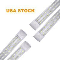 8ft led tube lights T8 integrated V shaped leds lighting cooler 6000-6500K 4ft 5ft 6ft lead fluorescent tubes bulb 36W 72W 100W 144W stock in USALIGHT