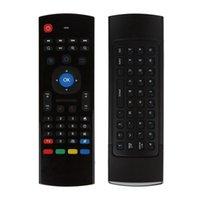 مصغرة اللاسلكية الخلفية للتحكم عن بعد الماوس الهواء MX3 مع وظيفة الصوت لوحة المفاتيح الملونة