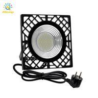 50W Floodlight 2835SMD US EU Plug LED Light 3000K 6000K IP66 Waterproof Flood Lamp for Factory Warehouse Street Home Outdoor Lighting