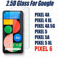 2.5D Закаленное стекло экрана телефона протектор для Google Pixel 6 5 Pixel5 4a 4 Pixel3a XL 3V Pixel4 Pixel3 50 шт. Каждая пакет принимает смешанный заказ
