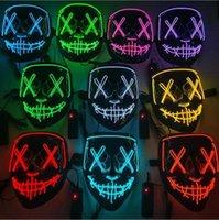 Fête des enfants masque halloween à LED léger masque drôle fête de vacances fluorescente éclatant mode Cool lumière couleur masque atmosphère accessoires
