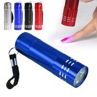 Flashlights Torches Nail Dryer Art Tool UV Gel Polish Manicure Mini Portable 9 LED DIY Salon 4 Color Machine