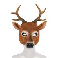 Simulazione Deer Realeplay Party Mask Maschi di graduazione Performance Cosplay Cosplay Puntelli di Halloween Palcoscenico Show Coperchio Mezzo viso Maschere per unisex