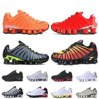Nike Shox TL Stock x Venta al por mayor para hombre zapatos de correr tamaño grande 12 shox tl triple negro blanco amanecer anaranjado plata rojo jogging tenis deportes