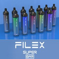 Original qst vapor flex super bar dispositivo de cigarro descartável 2200 puffs 1250mAh bateria pré-realizada 6.5ml pod vape caneta 12 cores autênticas vs qst randm flex