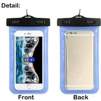 Casos impermeáveis universais para iphone 12 11 XR XS Samsung telefone transparente saco claro natação bolsa seca tampa protetor completo tela de toque flexível